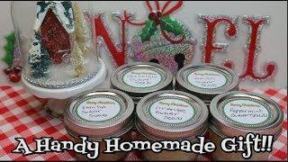 Homemade Sugar Scrub 5 Ways ~ Gift In A Jar ~ How To Make Hand Scrub ~ Gift Ideas ~ Noreens Kitchen