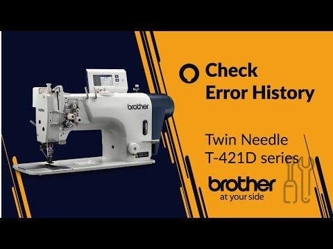 Twin needle lockstitch - How to check error