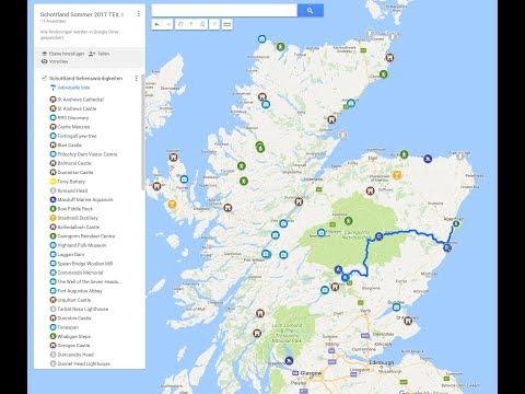 Eine Karte erstellen mit googlemaps/My Maps I Urlaubsplanung