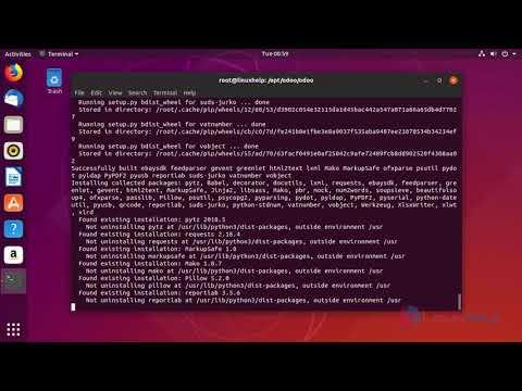 How to Install Odoo12 on Ubuntu 18 10 | LinuxHelp Tutorials