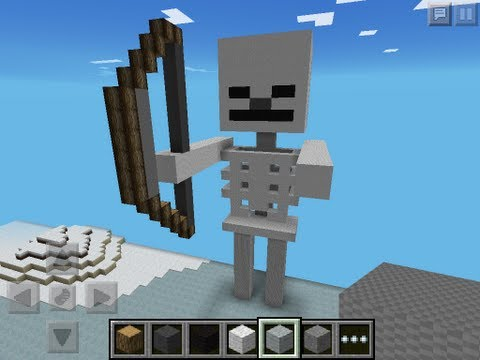 Minecraft PE Pixel Art: 3D Skeleton! Minecraft Project
