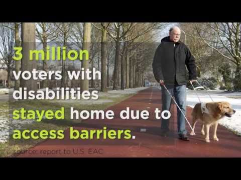 Image of the video: Ruderman White Paper on Voting Accessibility for People with Disabilities