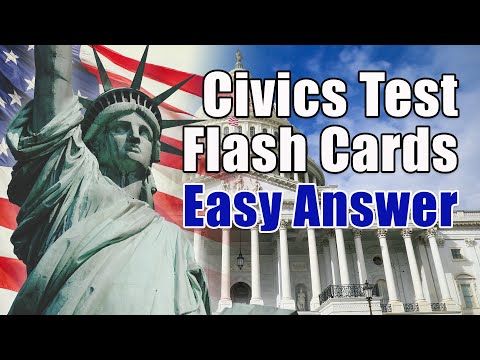 2021 US Civics Test Practice Test for Citizenship Test: Questions ...