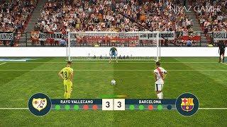 RAYO VALLECANO vs FC BARCELONA | Penalty Shootout | PES 2019 Gameplay PC