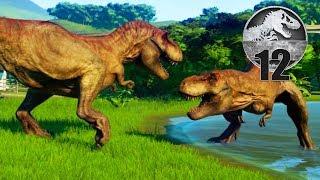 Jurassic World Evolution - Part 12 - T-REX FIGHT!
