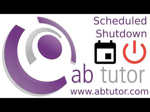 Scheduled shutdown with AB Tutor v9