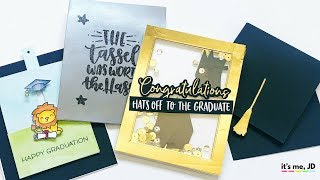 4 Easy DIY Graduation Card Ideas | Tutorial for Handmade Graduation Cards