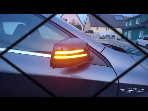 Einbau dynamischer Laufblinker Wischblinker Mercedes Benz GLA X156,  A-KLASSE W176, C-KLASSE W204...