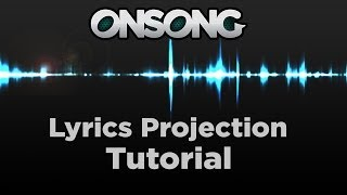 Projecting Lyrics with OnSong - YouTube