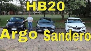 Argo x HB20 x Sandero - Qual 1.0 é melhor?