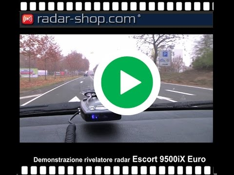 Rivelatore radar Escort 9500iX Euro test