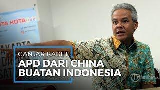 Gubernur Jawa Tengah Ganjar Pranowo Kaget APD Bantuan Cina Buatan Indonesia
