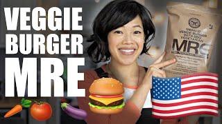Veggie BURGER MRE - Menu 12 - U.S. Meal-Ready-to-Eat Ration Taste Test