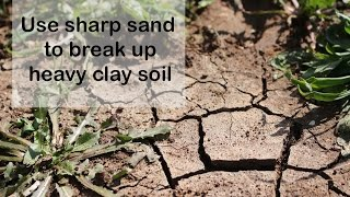 Breaking up clay soil