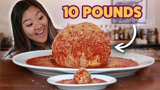 Peep the regular meatball for scale!