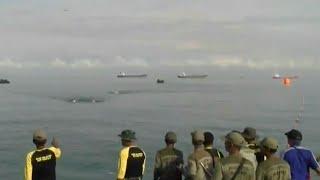 Lomba Renang Lintasi Selat Sunda Warnai HUT Ke-72 Marinir