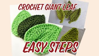 DIY Tutorial Crochet Leaf , How To Crochet Giant Leaf . Easy And Quick Project