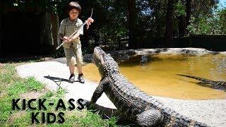 The 8 Year Old Gator Wrangler   KICK-ASS KIDS