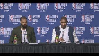Al Horford & Marcus Morris Postgame Interview   Cavaliers vs Celtics Game 1 - Video Youtube