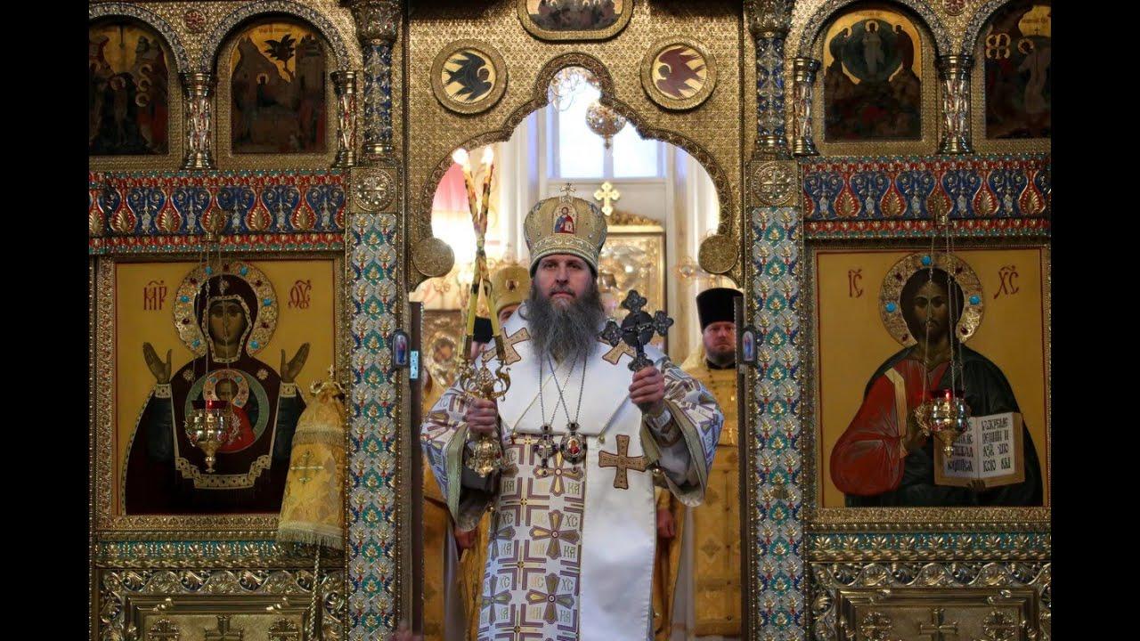 Литургия в храме Александра Невского