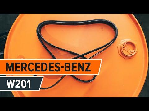 Come sostituire la cinghia a serpentina, la puleggia tendicinghia su MERCEDES-BENZ 190 W201