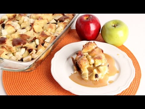 Apple Bread Pudding with Vanilla Butter Sauce – Laura Vitale – Laura in the Kitchen Episode 992