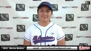 2022 Marina Medina Catcher and First Base Softball Skills Video - AASA Ayala