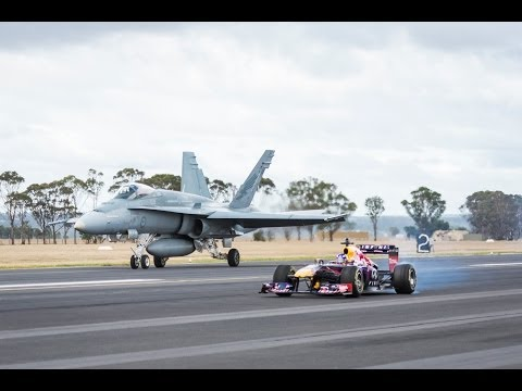 Infiniti F1 Car vs F/A-18 Hornet Fighter Jet
