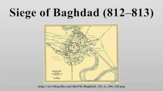 Siege of Baghdad (812–813)