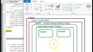 Framework7 Tutorial   6   App layout structure
