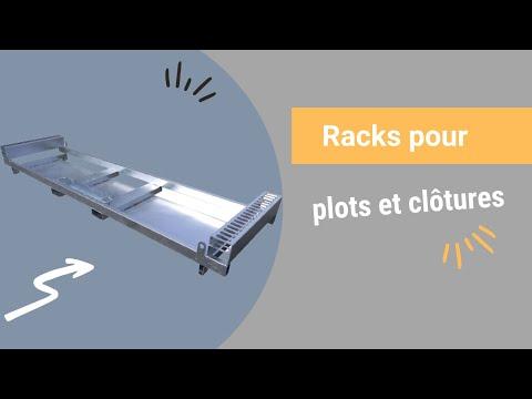 Video Youtube Rack pour plots et clôtures