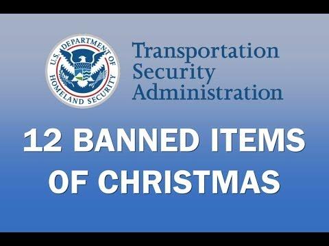 Vánoční věci zakázané TSA