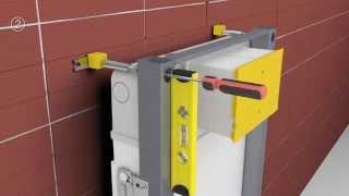 Noken Smart Line: bastidor con cisterna para WC suspendido   PORCELANOSA Grupo