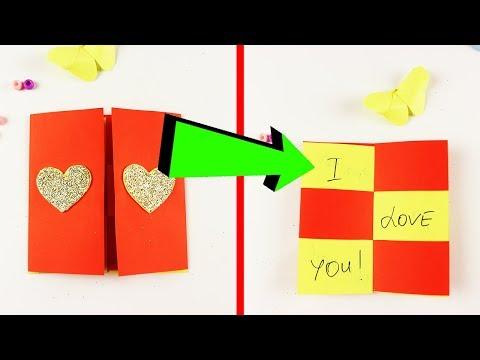 Поделки бумаги, как сделать волшебную открытку с фокусом