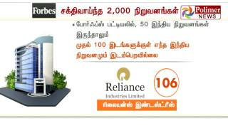 50 Indian companies were listed as world's powerful Indian | Polimer News