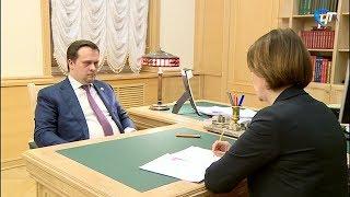 Андрей Никтин провел рабочую встречу с вице-губернатором Ольгой Колотиловой