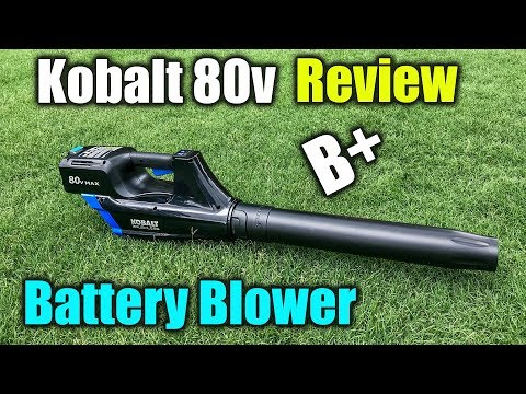 Battery Blower Review – Kobalt 80v Max