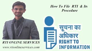 How to File RTI & Its Procedure