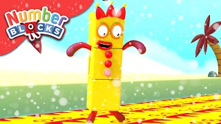 Numberblocks - Christmas Trap!   Learn to Count