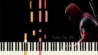 Take On Me (MTV Unplugged) - Deadpool 2   Piano Tutorial (Synthesia)