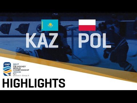 Kazakhstan - Poland | Highlights | 2017 IIHF Ice Hockey World Championship Division I Group A