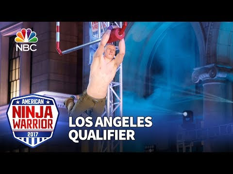 Kevin Bull at the Los Angeles Qualifiers - American Ninja Warrior 2017
