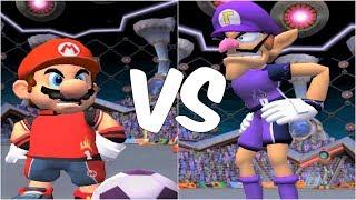 Super Mario Strikers - Mario vs Waluigi - GameCube Gameplay (720p60fps)