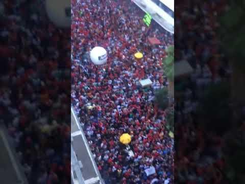 Lula faz discurso em Porto Alegre