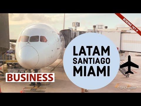 Latam Santiago Miami  Boeing 787-9 - business LA500