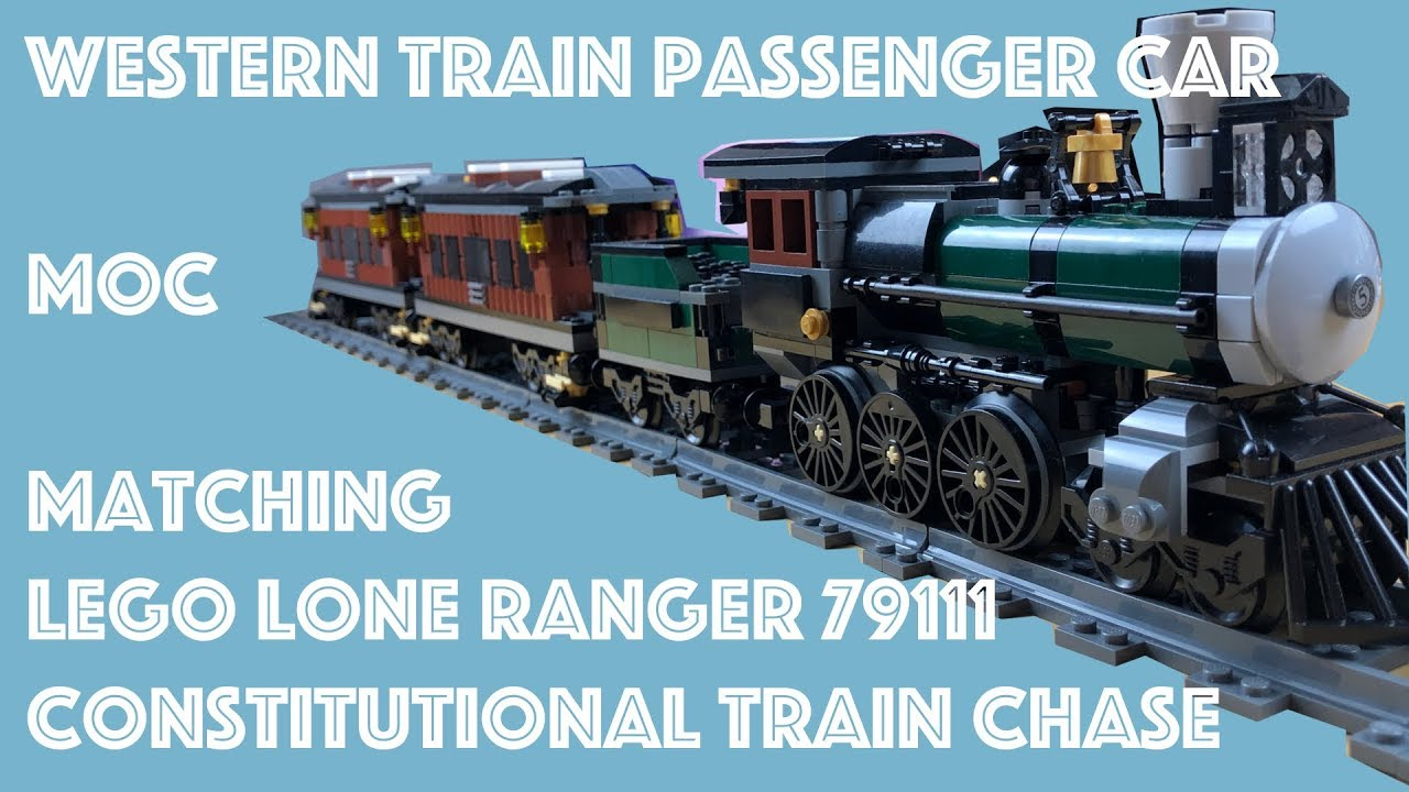 Lego MOC - Western Train Passenger Car - matching my 79111 Lone Ranger Steamtrain Speed Build