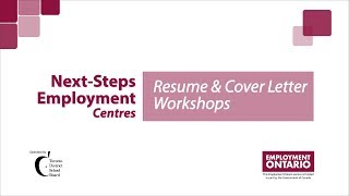 Next-Steps Employment Centres - Resume Workshops