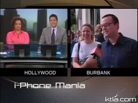 KTLA 'Reporter' Makes Fun of iPhone Line-Sitters, Gets Called a Jackass on Live TV