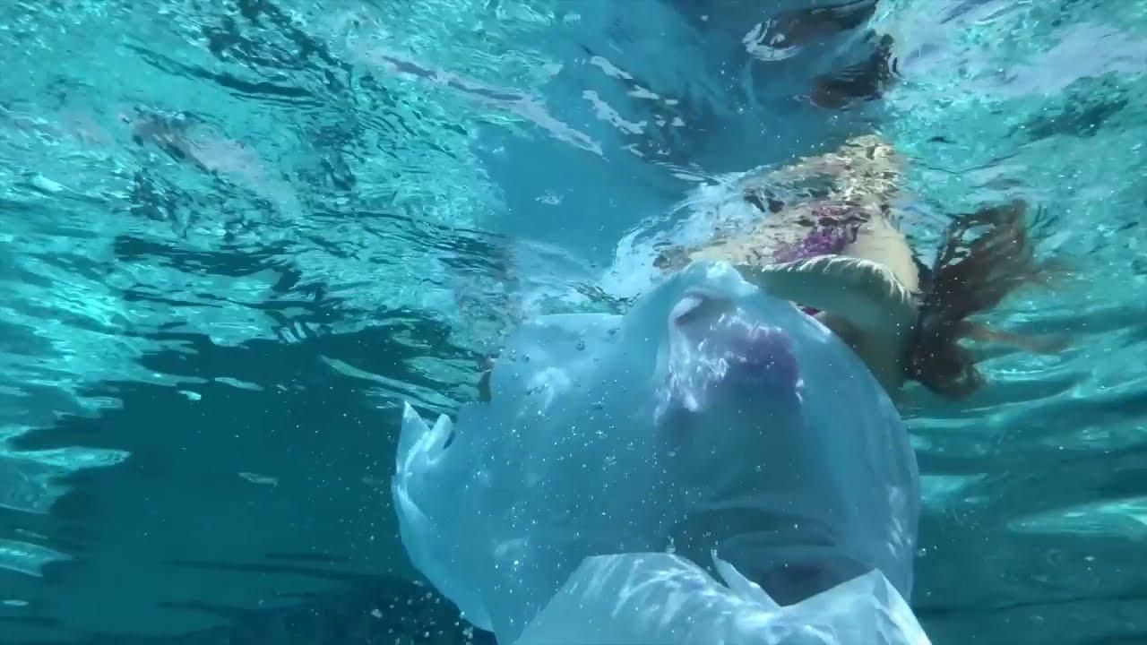 i painted myself underwater timelapse painting by lena danya