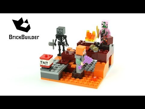 Lego Minecraft 21139 The Nether Fight - Lego Speed Build